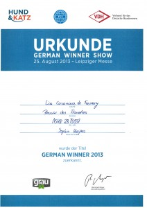 German Winner 2013